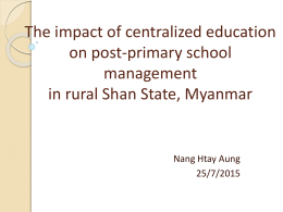 The impact of centralized education on post