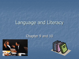 Language and Literacy - Utah Education Network