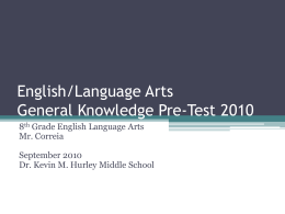 English/Language Arts Pre