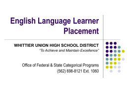 English Learner Placement