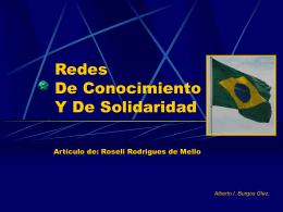 Redes De Conocimiento Y De Solidaridad