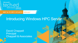 wsv207_Introducing Windows HPC Server
