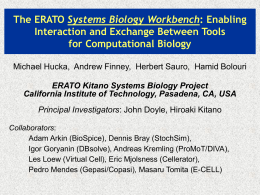 SBML: Systems Biology Markup Language