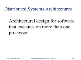 Object-oriented Design - University of Illinois at Chicago