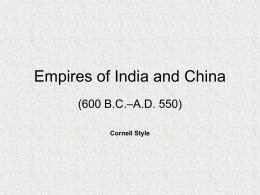 Empires of India and China