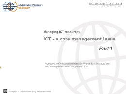 Managing ICT resources