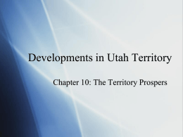 Prominent People in Territorial Utah