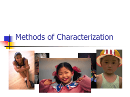 Methods of Characterization - J.J. Daniell Middle School