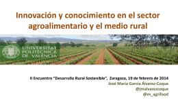 Los retos de los sistemas alimentarios y el medio rural en