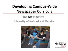 Developing Campus Wide Newspaper Curricula