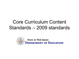 Core Curriculum Content Standards