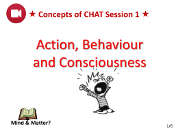 Concepts of CHAT Session 1