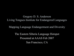 Tungusic Genetic Unit - Living Tongues Institute for