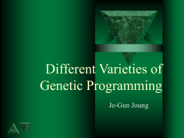 Different Varieties of Genetic Programming