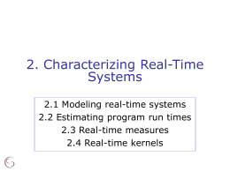 2. Characterizing Real-Time Systems and Tasks