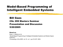 Model-Based Programming of Intelligent Embedded …