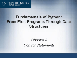 Fundamentals of Python: From First Programs Through …