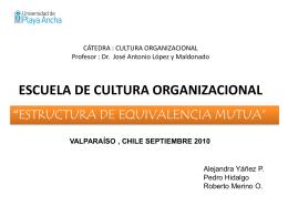 """ESCUELA DE CULTURA ORGANIZACIONAL """"ESTRUCTURA …"""
