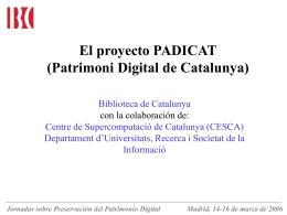 PADICAT Patrimoni Digital de Catalunya