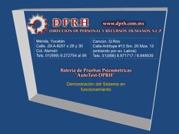 Diapositiva 1 - .: DPRH, S.C.P.