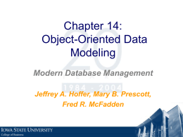 Object-Oriented Data Modeling