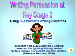 'Persuasive Writing Language Toolkit'.