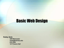 Basic Web Design - University of Mississippi