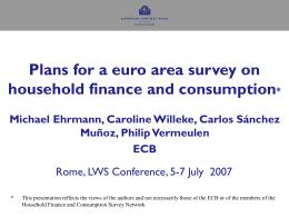 A Eurosystem questionnaire