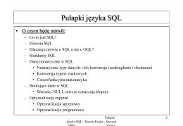 Pułapki języka SQL - Instytut Podstaw Informatyki PAN