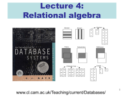 Lecture 04 of IB Databases course