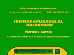 CURSO DE MONITORES DE BALONMANO. HERRERA. 2009