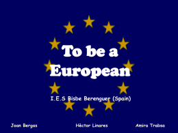 To be an european