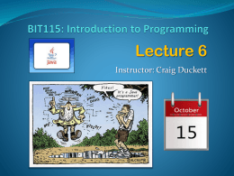 BIT115: Introduction to Programming
