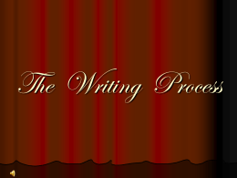 THE WRITING PROCESS - Napa Valley College