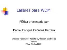 Laseres para WDM