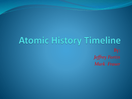 Atomic History time line - reich