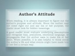 Author's Attitude