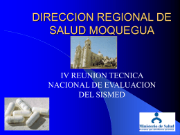 DIRECCION REGIONAL DE SALUD MOQUEGUA