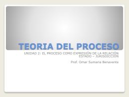 TEORIA DEL PROCESO - DIPLOMADOS EN DERECHO