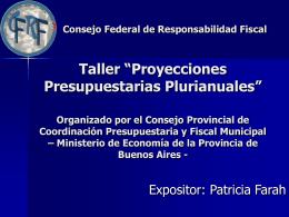 Proyecciones Presupuestarias Plurianuales