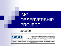 IMG OBSERVERSHIP PROJECT