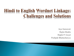 Hindi to English Wordnet Linkage: Challenges and Solutions