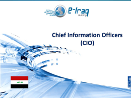 Training Course for CIOs-Govt. Of Iraq CHAPTER 9: …