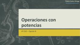 Operaciones con potencias