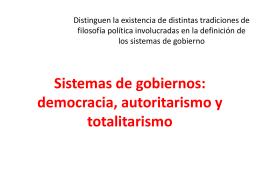Sistemas de gobiernos: democracia, autoritarismo y