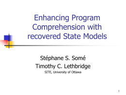 Enhancing Program Comprehension with recovered State …