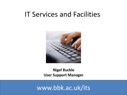 IT Services - Birkbeck, University of London