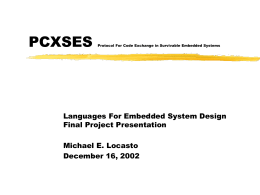 PCXSES Protocol For Code Exchange in Survivable …