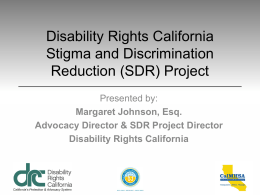 Title of Slide Show - Disability Rights California