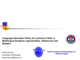 Supporting Children with EAL